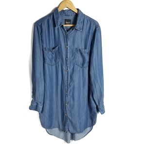 Jachs girlfriend chambray long sleeve top
